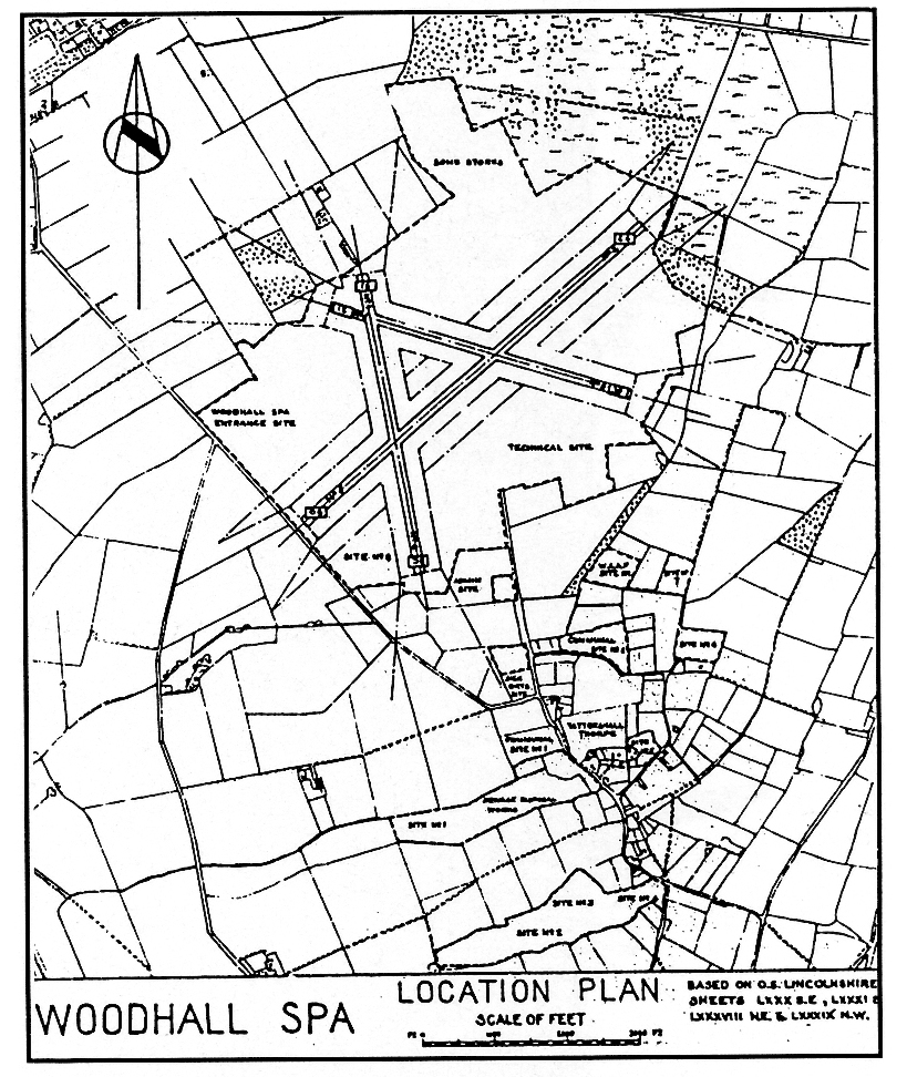 Plan of RAF Woodhall Spa (Courtesy: 627 Sqn in Retirement website)