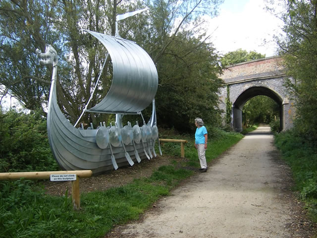 Spa Trail ship sculpture