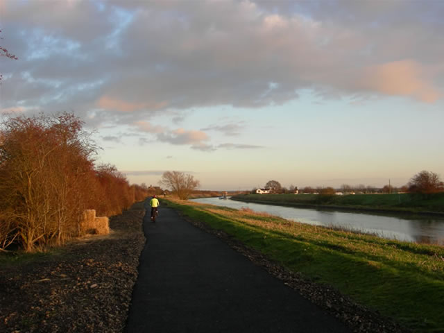 Water Rail Way at sunset