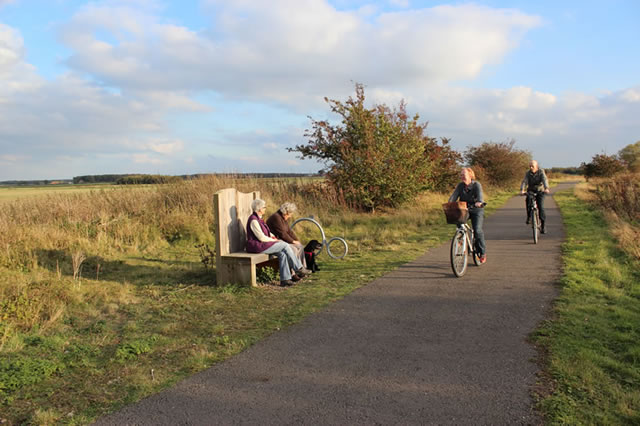 Cyclists on the Water Rail Way