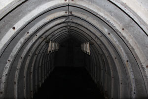 Interior of Stanton Air Raid Shelter