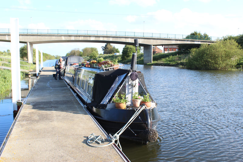 Barge at Kirkstead moorings